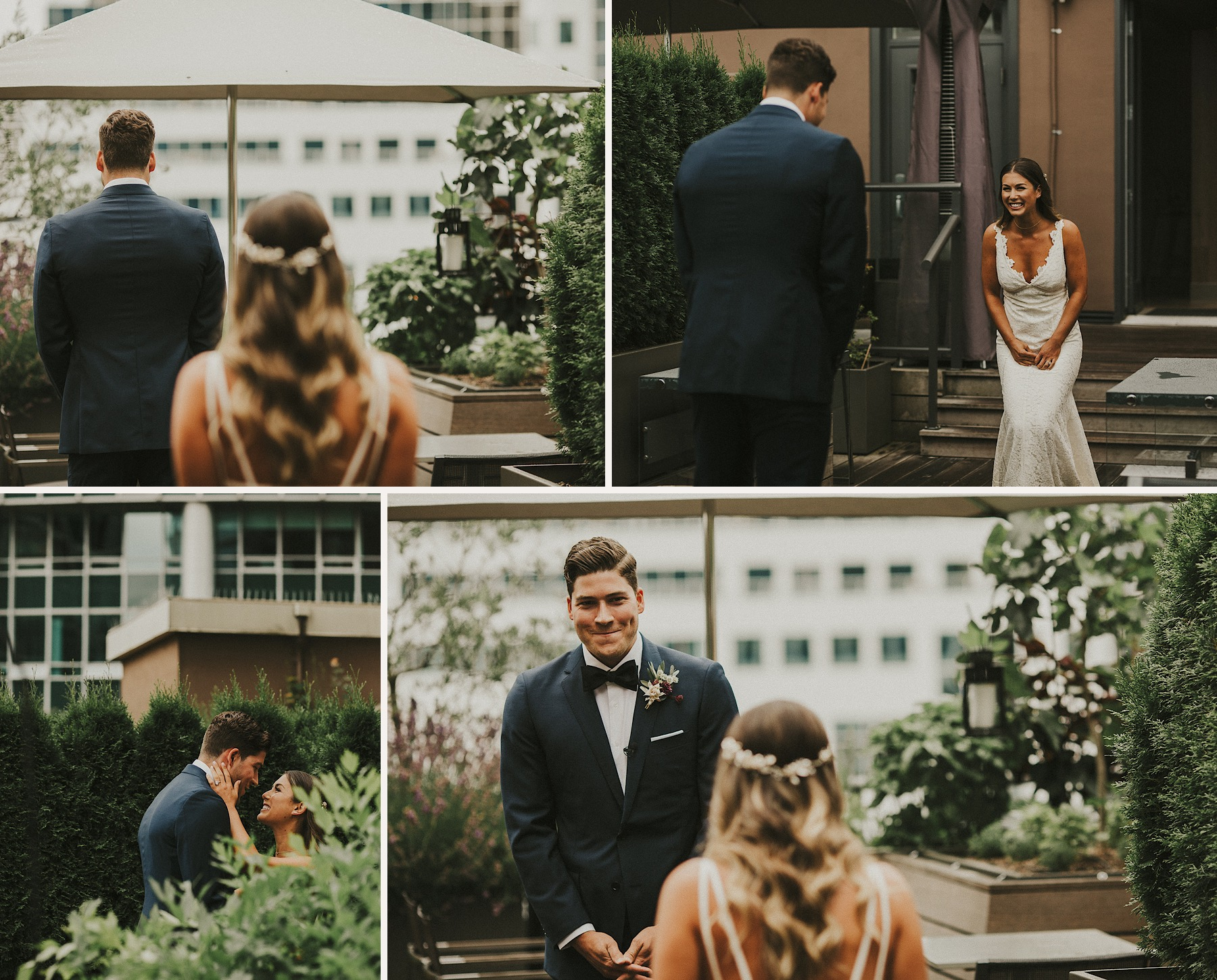 A Vancouver Club Wedding first look