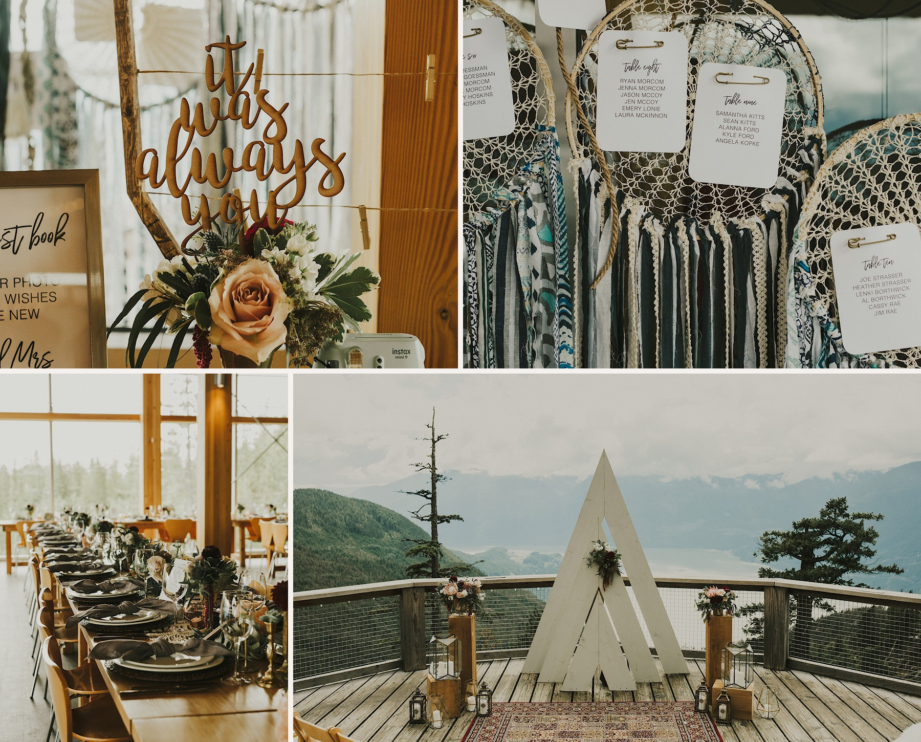 A Sea to Sky Gondola Squamish summer wedding pnw
