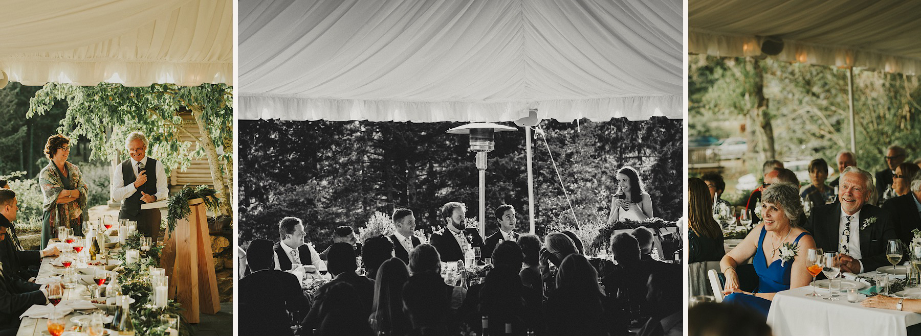 bodega ridge outdoor wedding reception